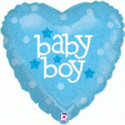 Ballon Baby Boy Heart