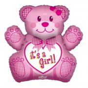 Ballon Baby Girl Bear Teddy