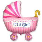 Baby Girl Buggy Ballon Wiegje